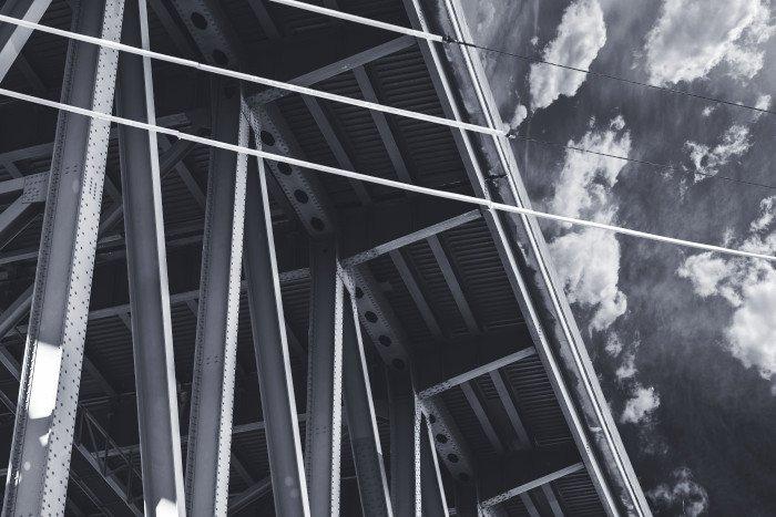 Steel fabricator Bristol. Image of steel bridge structure. Engineering and Structural Design